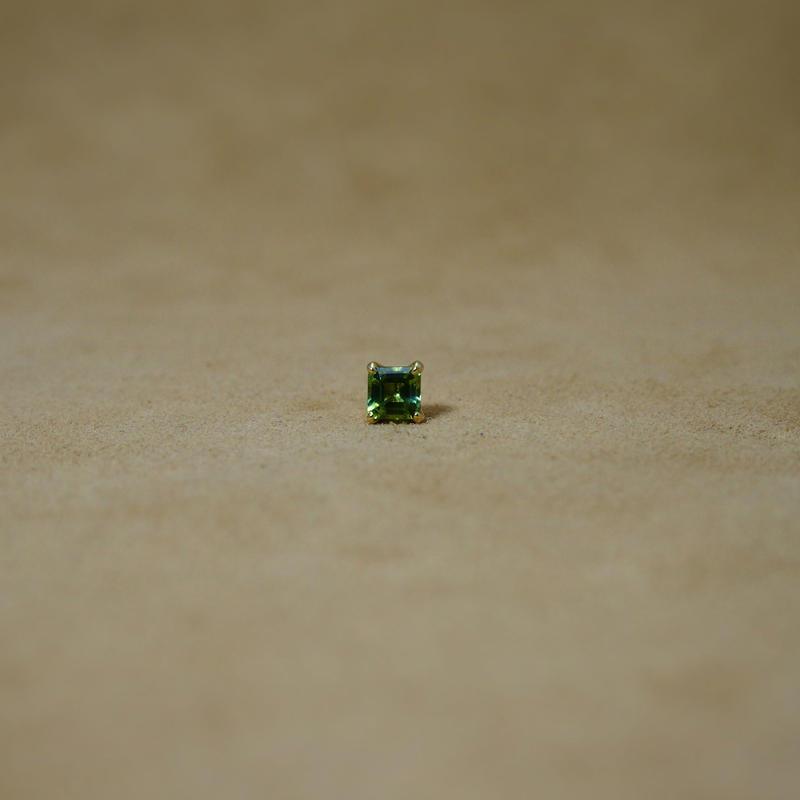GreenTourmarine Single Earring(s/q)