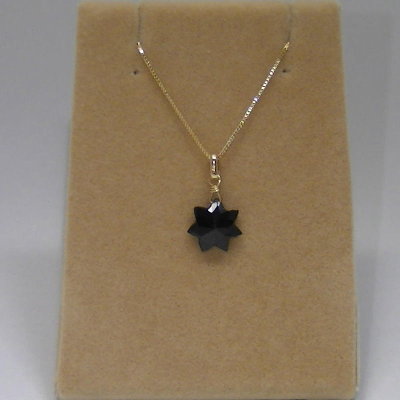 BlackSpinal PendantTop(star cut)