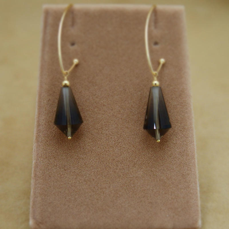 Smoky Quartz Maquise Earrings