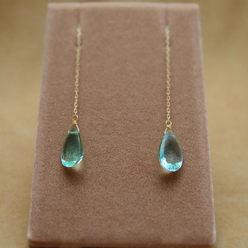 Fluorite Chain Earrings(f/c)