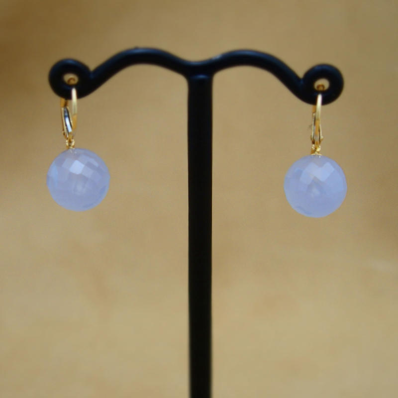 Blue Chalcedony German Earrings