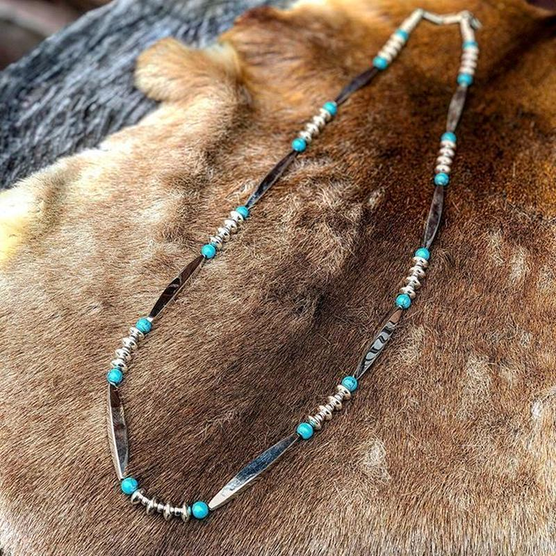 DEER HORN SMITHS / SILVER BEADS NECKLACE(GOLD☆RUSH別注)