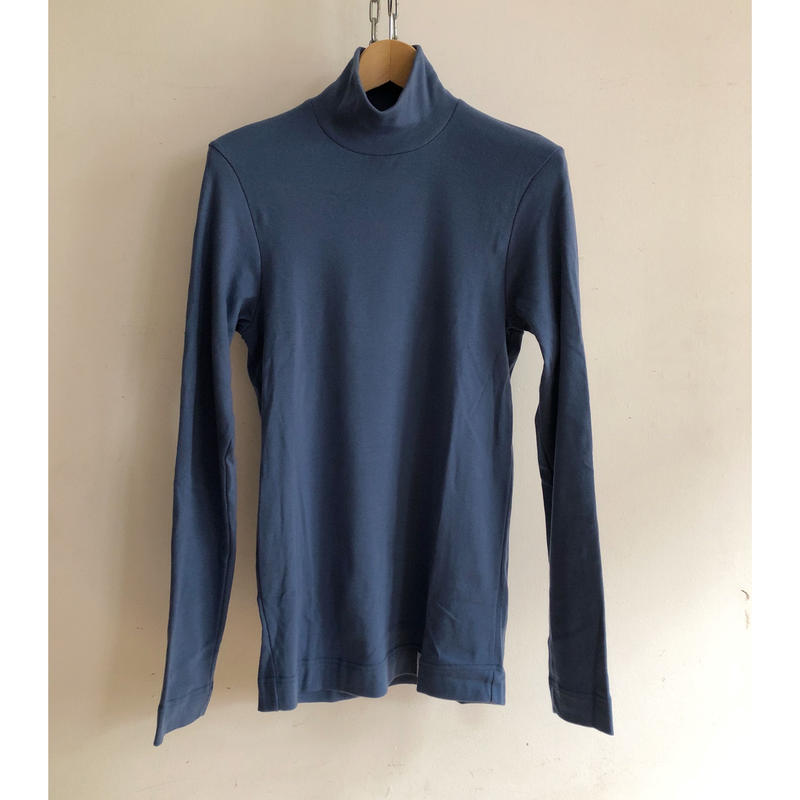 Psych London High Neck L/S Tee Made in England  Royal Blue