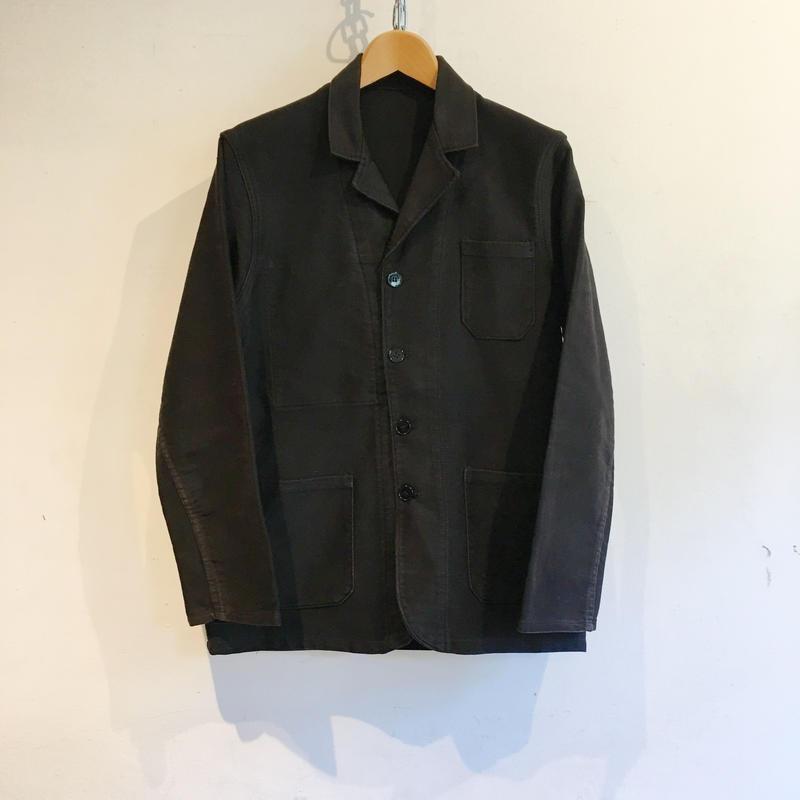 40's〜50's Le LABOUREUR Black Moleskin Lapel Jacket