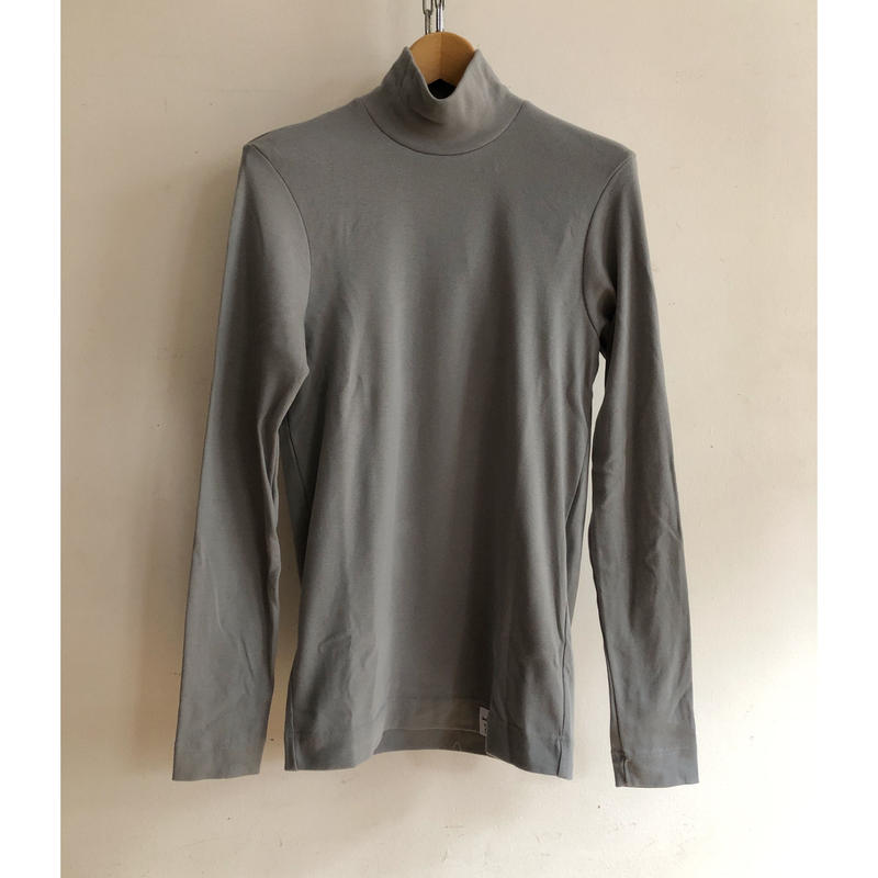 Psych London High Neck L/S Tee Made in England Pearl Grey