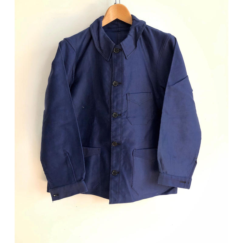 Ealry 40's Pattern Ink Blue Moleskin Coverall Dead Stock