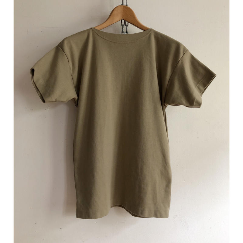Italy Military Boat Neck Training Tee  Dead Stock  Light Olive