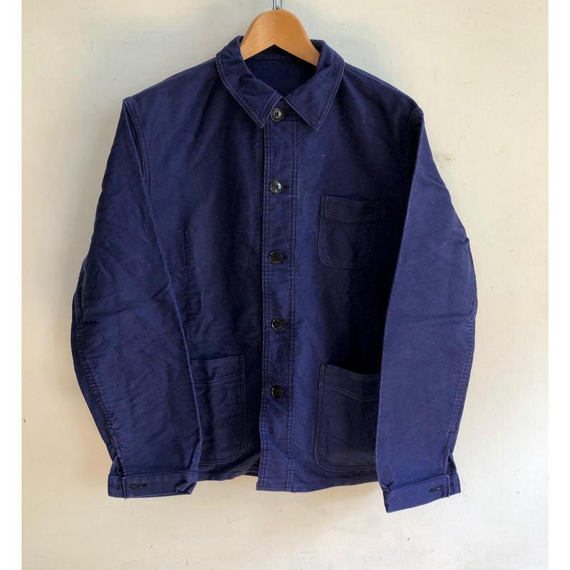 40's〜50's Le Mon Saint Michael Ink Blue Moleskin Coverall Good Condition