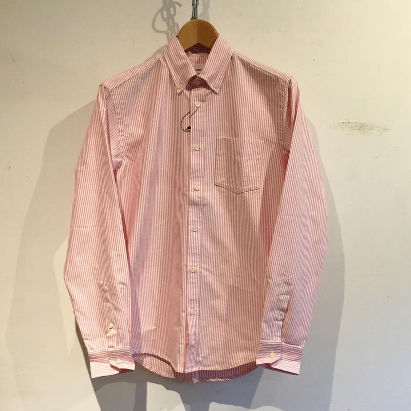 TRIPL STITCHED Classic Button Down Shirt Pink Candy Stripe