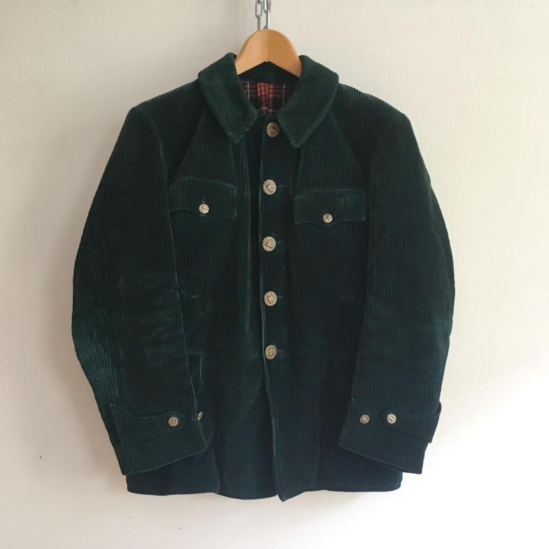 50's Animal Buttons Heavy Corduroy Hunting Jacket Good Condition