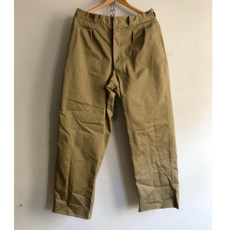 "50's French Army Chino Trousers Dead Stock ""After Washed""  ""24"""