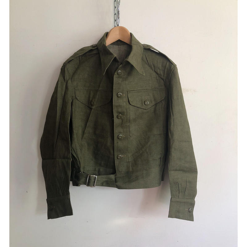 "1953 Royal Army Issue ""Green Denim"" Battle Dress Jacket Dead Stock"