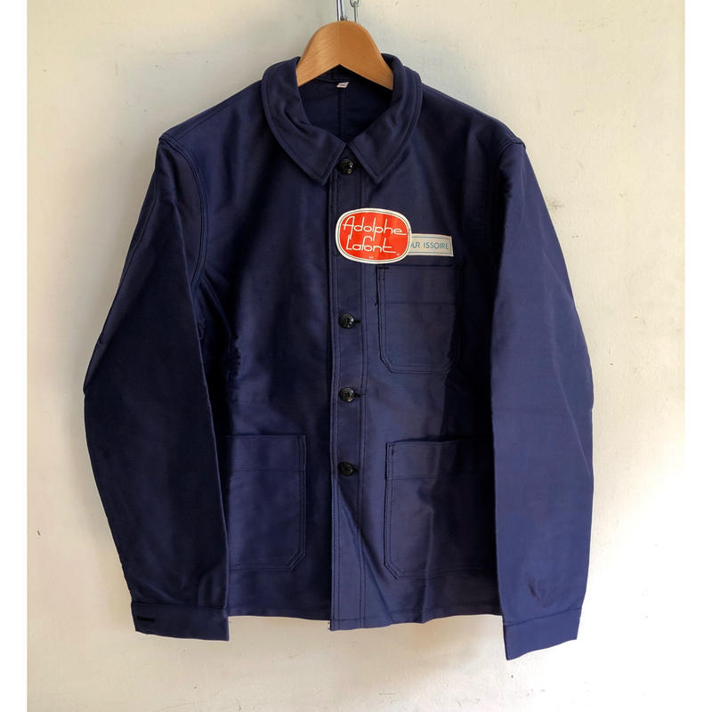 "50's ""Adolphe Lafont"" Ink Blue Moleskin Coverall Dead Stock"