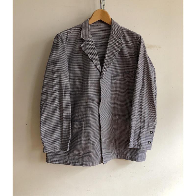"60's Hidden Buttons Line ""Butcher Jacket"" Mint Condition"