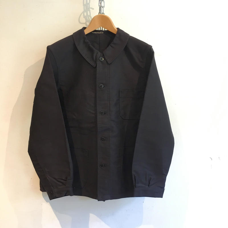 60's Black Moleskin Coverall Jacket