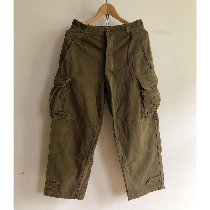 "60's French Army M47 Field Trousers , Unkown Size Label, Excellent Size ""21""?"