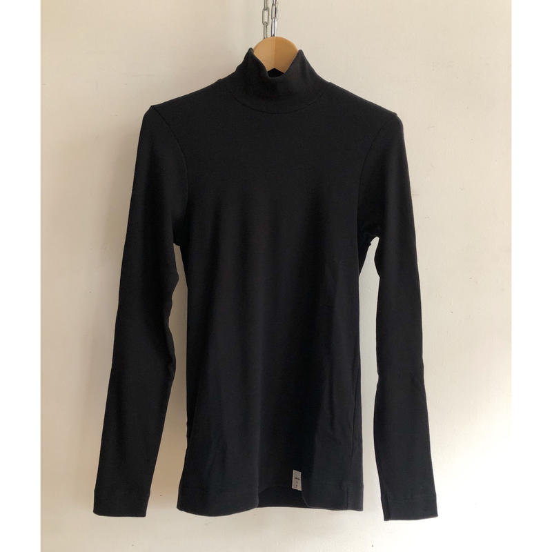 Psych London High Neck L/S Tee Made in England Black