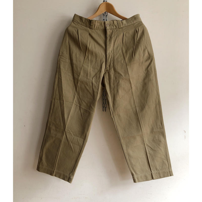"50's French Army Chino Trousers ""12"""