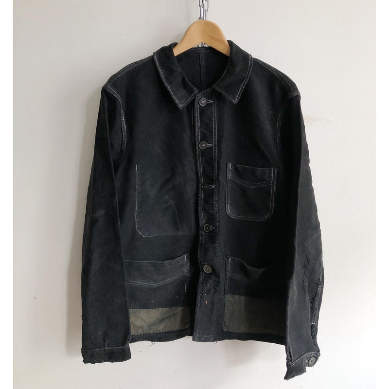 "40's Patched Repaired Moleskin ""BORO"" Jacket/5"