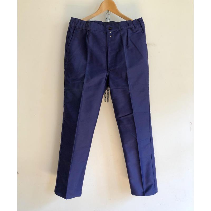 """50's """"Eska"""" Inl Blue Moleskin Trousers Dead Stock """"42"""""""