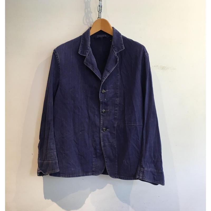 """50's British Workwear """"HOLDFAST"""" Change Button  Work Jacket Size M〜L"""