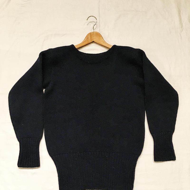 〜50's YALE University CO-OP Plain Letterman Sweater