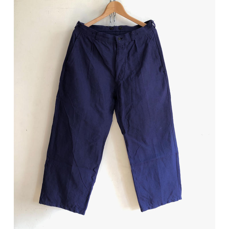 """50's French Army """"Indigo Linen"""" Army Linen  Trousers Dead Stock  """"23"""""""