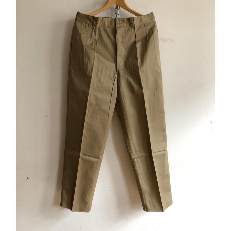 """50's French Army Chino Trousers  Dead Stock""""Before Wash"""""""