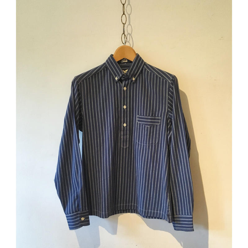 Taylor Stitch Indigo Selvage Pop Over Shirt