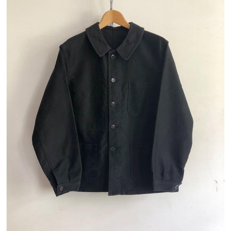 "Later40's〜50's Black Moleskin Coverall Good Condition ""Vetvor"""