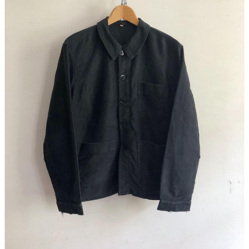 "50's Black Moleskin Coverall ""Adolphe Lafonte"" Good Condition"