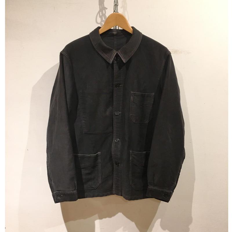 40's Black Moleskin Coverall Jacket