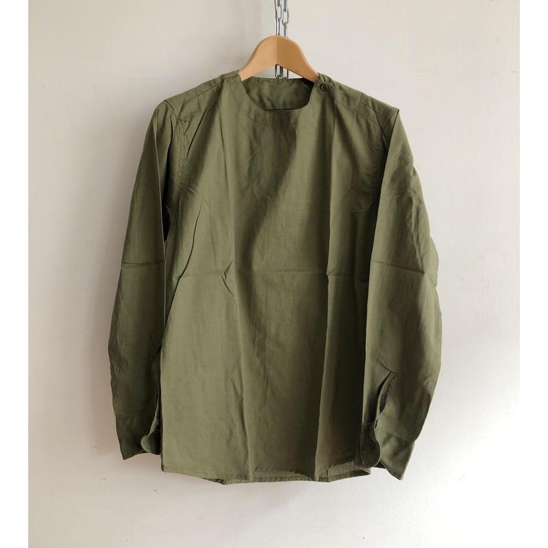 "80's Euro Military ""Olive Linen"" Hospital Shirt Dead Stock"