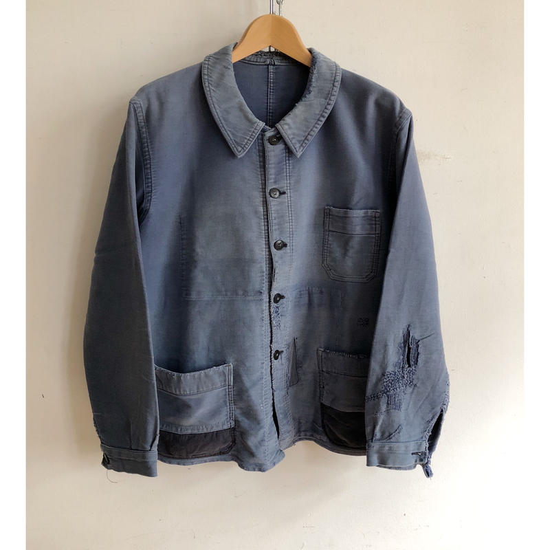 """40's Patched Repaired Moleskin """"BORO"""" Jacket/3"""