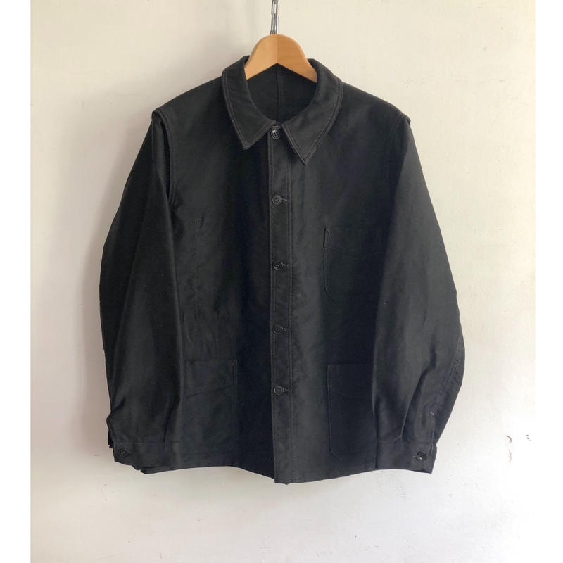 "40's Black Moleskin Coverall ""Combet"" Exellent Condition"