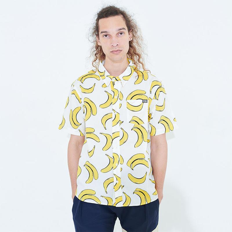XHS-BANANA ウオッシュドS/Sシャツ
