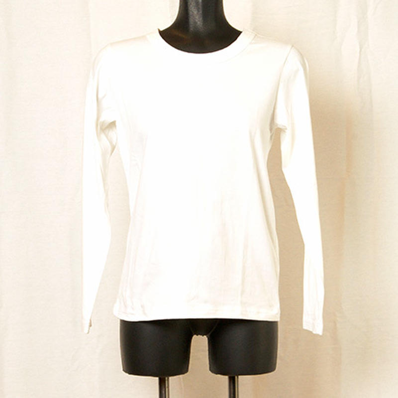 【Z18A06】Laughaha BASIC CREW L/S ・WHITE(通常価格:7020円)