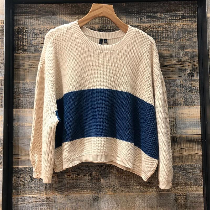[K19S07] Stripe Sweater