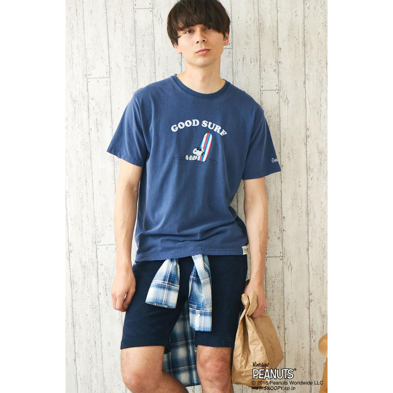 GP×SNOOPY SURF T / NAVY GST-001