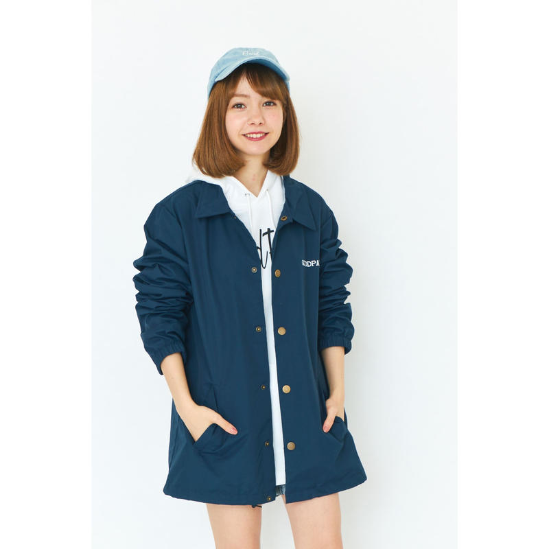 BANDANA COACH JACKET / NAVY GDA-001