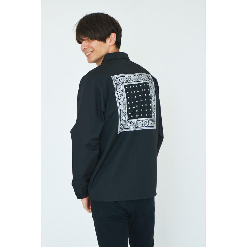 BANDANA COACH JACKET / BLACK GDA-001