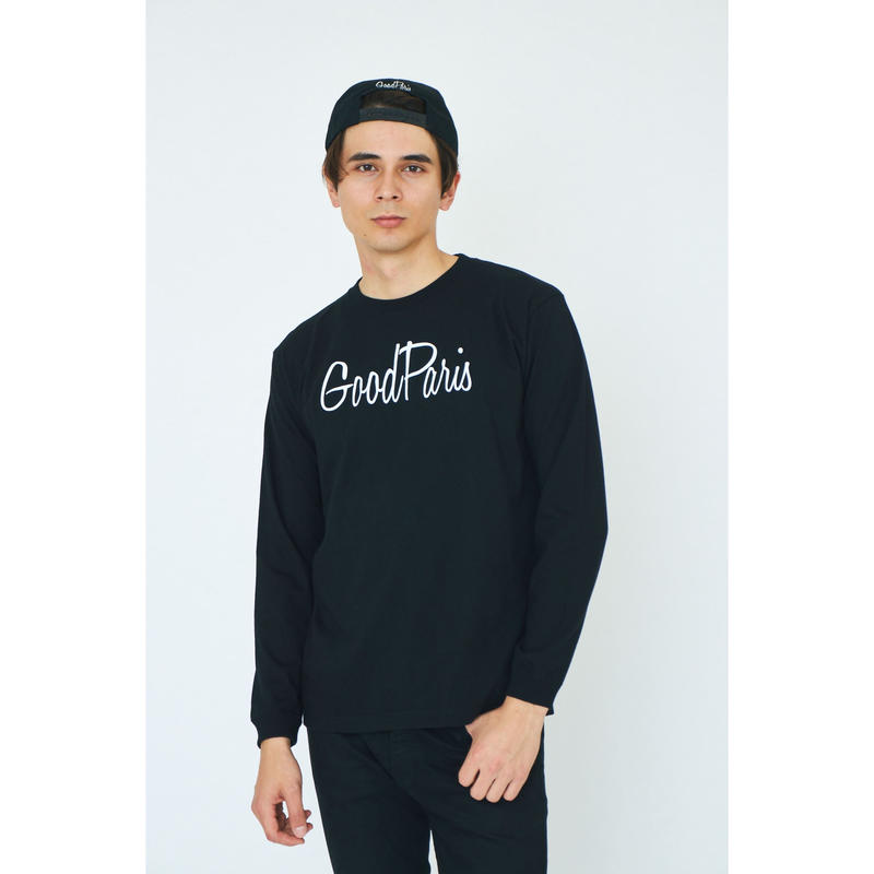 GOOD PARIS LONG SLEEVE T-SHIRT / BLACK GDL-001
