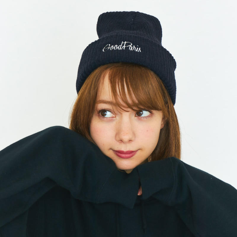 GOOD PARIS KNIT CAP / NAVY GDG-004