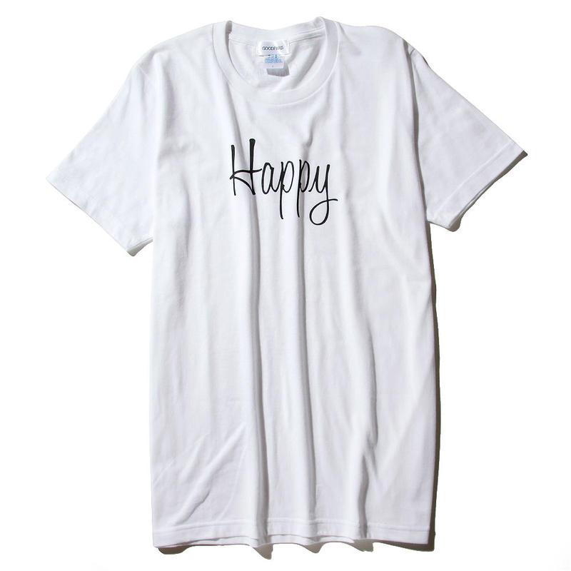 HAPPY T-SHIRT/WHITE GDT-009