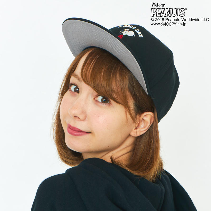 GP×SNOOPY SKATE CAP / BLACK GSG-002
