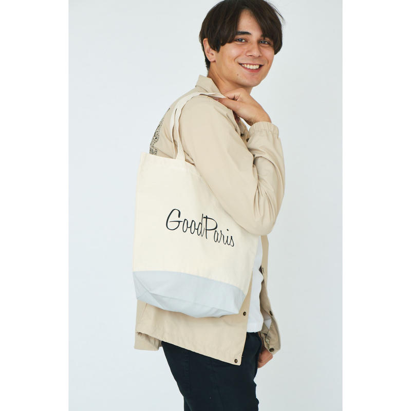 GOOD PARIS TOTEBAG /NATURAL×LIGHT GRAY GDG-002