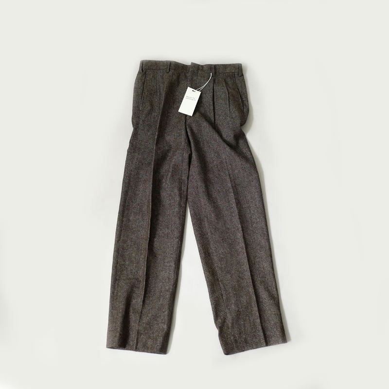 RYU |リュー|wool denim two-tuck tapered pants|boedeaux|a1910