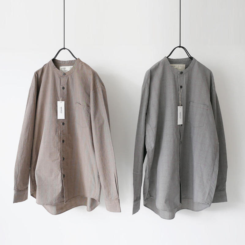 HARVESTY|ハーベスティ|band collar shirts |SIZE2|A31907