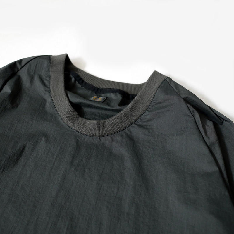 RYU |リュー|nylon chambray poncho shirts|black|a1901