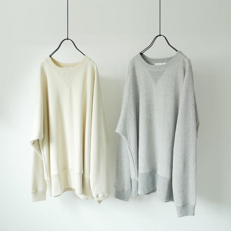 bunt  バント |LOOP WHEEL CREW NECK SWEAT SHIRTS|19AW-CS01|SIZE3|GRAY  IVORY